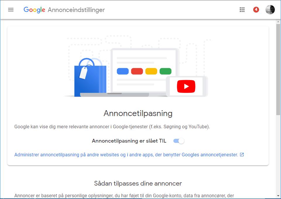 google-annonce-tilpasning